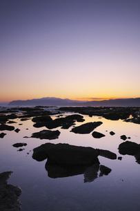 寿都湾の朝の写真素材 [FYI04486687]