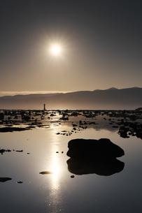 寿都湾の日の出の写真素材 [FYI04486692]