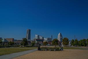 横浜みなとみらいの風景(2018年)の写真素材 [FYI04486846]