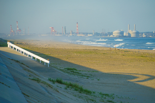 荒浜海岸の風景(宮城県仙台市)の写真素材 [FYI04486848]