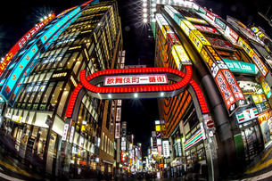 歌舞伎町一番街の写真素材 [FYI04486895]