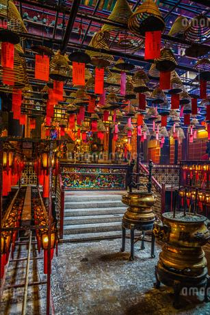 香港・文武廟の写真素材 [FYI04486930]
