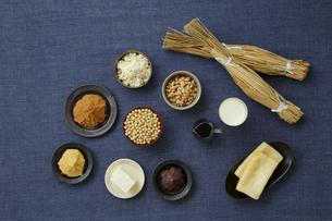 大豆食品の集合の写真素材 [FYI04487071]