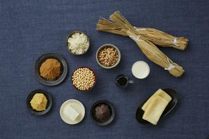 大豆食品の集合の写真素材 [FYI04487072]