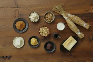 大豆食品の集合の写真素材 [FYI04487074]