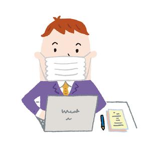 会社で仕事 マスク着用のイラスト素材 [FYI04487141]