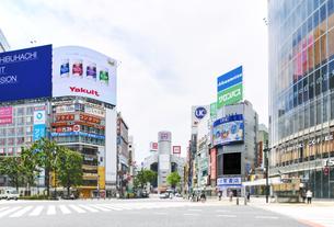東京 渋谷 スクランブル交差点 自粛の写真素材 [FYI04487653]