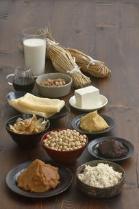 大豆食品の集合の写真素材 [FYI04487833]