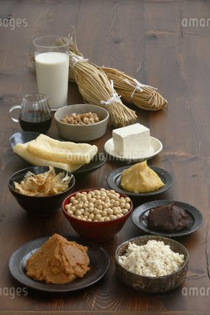 大豆食品の集合の写真素材 [FYI04487834]