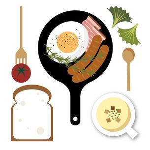 朝食のイラスト素材 [FYI04487994]