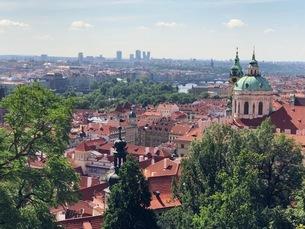 プラハ チェコ 城下町の写真素材 [FYI04488750]