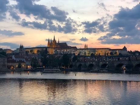 プラハ モルダウの写真素材 [FYI04488766]