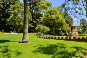 オーストラリア・西オーストラリア州のパースシティのキングスパークの中の木々に囲まれた女性の像の写真素材 [FYI04489108]