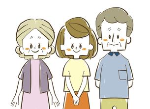 三人家族-笑顔のイラスト素材 [FYI04489128]