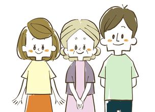 三人家族-笑顔のイラスト素材 [FYI04489132]