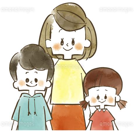 親子-母親と子供-水彩のイラスト素材 [FYI04489799]
