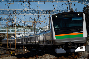 JR東日本E233系電車の写真素材 [FYI04490419]