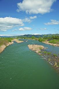 春の寒河江川の写真素材 [FYI04491724]