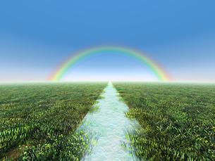 虹に向かう道のイラスト素材 [FYI04492302]