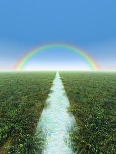 虹に向かう道のイラスト素材 [FYI04492303]