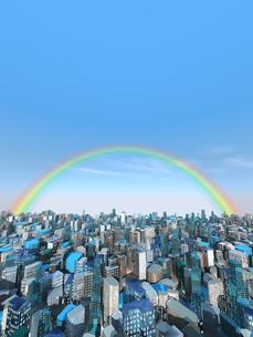 虹かかる都市風景のイラスト素材 [FYI04492306]