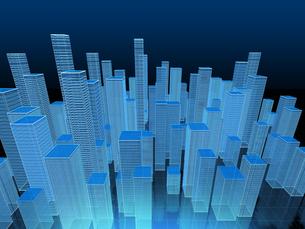 高層ビル群を俯瞰のイラスト素材 [FYI04492310]