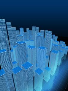 高層ビル群を俯瞰のイラスト素材 [FYI04492311]