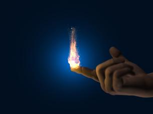 指先で燃える炎のイラスト素材 [FYI04492325]