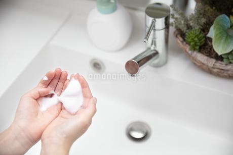 手洗い ハンドソープ 除菌 洗面所の写真素材 [FYI04493185]
