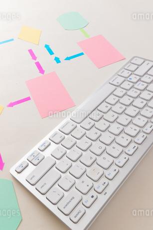 キーボードとフローチャートの写真素材 [FYI04494571]