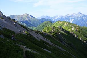 大天井岳付近から眺める槍ヶ岳の写真素材 [FYI04495677]