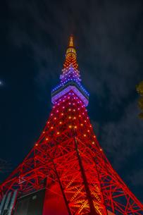 東京タワーの夜景の写真素材 [FYI04497238]
