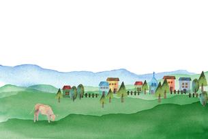 レトロな田舎の風景のイラスト素材 [FYI04499187]