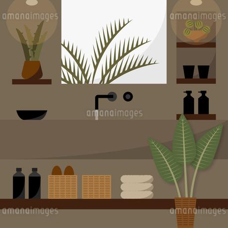 アジアンテイストの洗面所のイラスト素材 [FYI04500137]