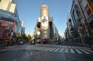 自粛により無人の渋谷の写真素材 [FYI04500214]