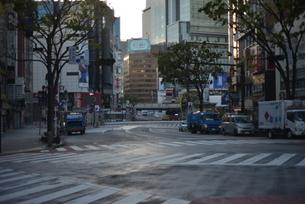 自粛により無人の渋谷の写真素材 [FYI04500218]