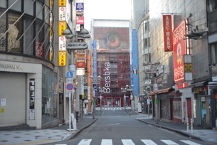 自粛により無人の渋谷の写真素材 [FYI04500220]