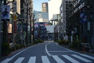 自粛により無人の渋谷の写真素材 [FYI04500244]