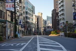 自粛により無人の渋谷の写真素材 [FYI04500248]