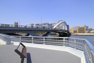 築地大橋と踊り場の写真素材 [FYI04500363]