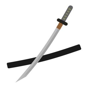 日本刀のイラスト素材 [FYI04500523]