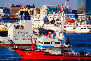 海上保安庁の船の写真素材 [FYI04501018]