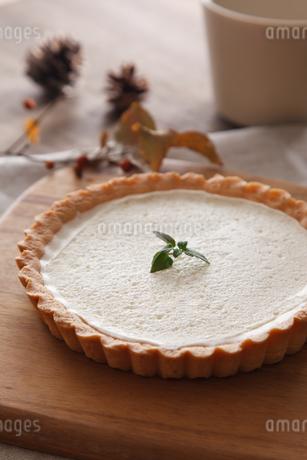 レアチーズケーキのタルトの写真素材 [FYI04501992]