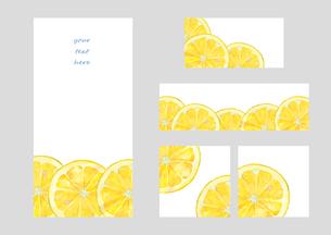 レモンのフレームセットのイラスト素材 [FYI04502300]