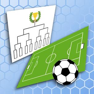 サッカーのトーナメントのイラスト素材 [FYI04502798]