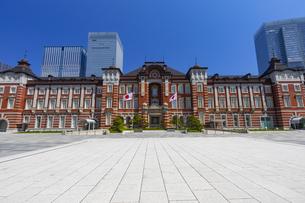 レトロな雰囲気の東京駅赤レンガ駅舎の写真素材 [FYI04502831]