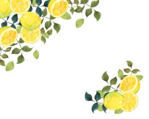 レモンのフレームのイラスト素材 [FYI04502881]