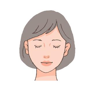 目を瞑る女性のイラスト素材 [FYI04503616]