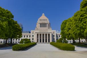 青空と国会議事堂の写真素材 [FYI04503641]