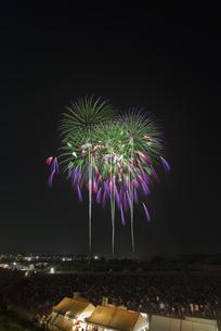 常総きぬ川花火大会の写真素材 [FYI04504361]